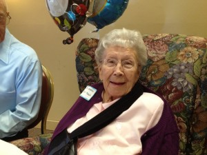 Aunt Ethel 100 years old